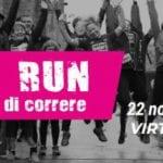 'We Run' si corre a distanza ma uniti contro la violenza sulle donne
